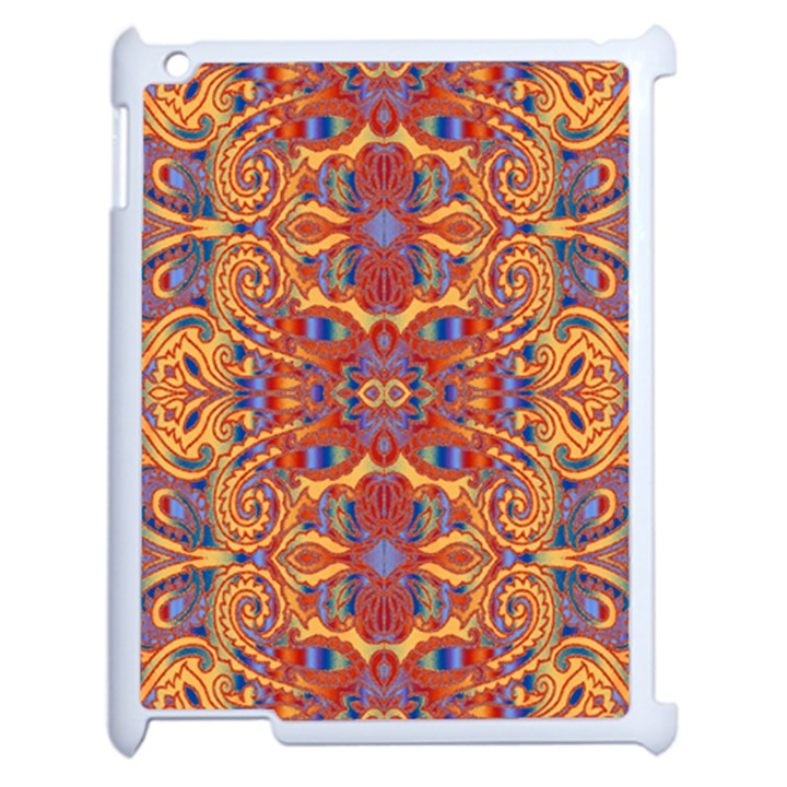 Oriental Watercolor Ornaments Kaleidoscope Mosaic Apple iPad 2 Case (White)