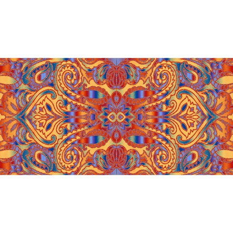 Oriental Watercolor Ornaments Kaleidoscope Mosaic YOU ARE INVITED 3D Greeting Card (8x4)