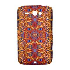 Oriental Watercolor Ornaments Kaleidoscope Mosaic HTC ChaCha / HTC Status Hardshell Case