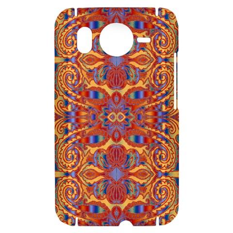 Oriental Watercolor Ornaments Kaleidoscope Mosaic HTC Desire HD Hardshell Case