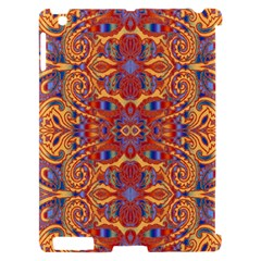 Oriental Watercolor Ornaments Kaleidoscope Mosaic Apple iPad 2 Hardshell Case (Compatible with Smart Cover)