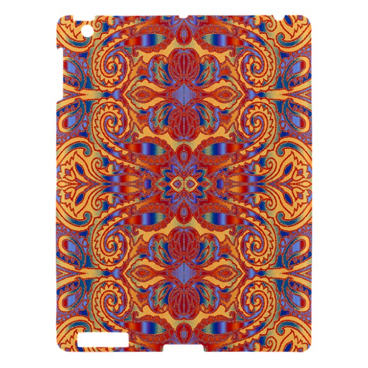 Oriental Watercolor Ornaments Kaleidoscope Mosaic Apple iPad 3/4 Hardshell Case