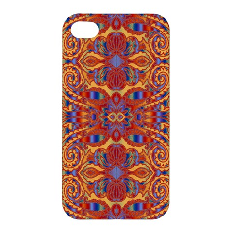 Oriental Watercolor Ornaments Kaleidoscope Mosaic Apple iPhone 4/4S Premium Hardshell Case