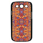Oriental Watercolor Ornaments Kaleidoscope Mosaic Samsung Galaxy S III Case (Black) Front