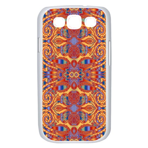 Oriental Watercolor Ornaments Kaleidoscope Mosaic Samsung Galaxy S III Case (White)