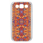 Oriental Watercolor Ornaments Kaleidoscope Mosaic Samsung Galaxy S III Case (White) Front