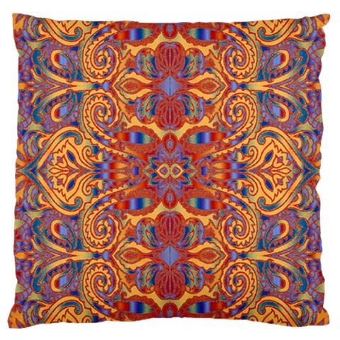 Oriental Watercolor Ornaments Kaleidoscope Mosaic Large Cushion Case (One Side)