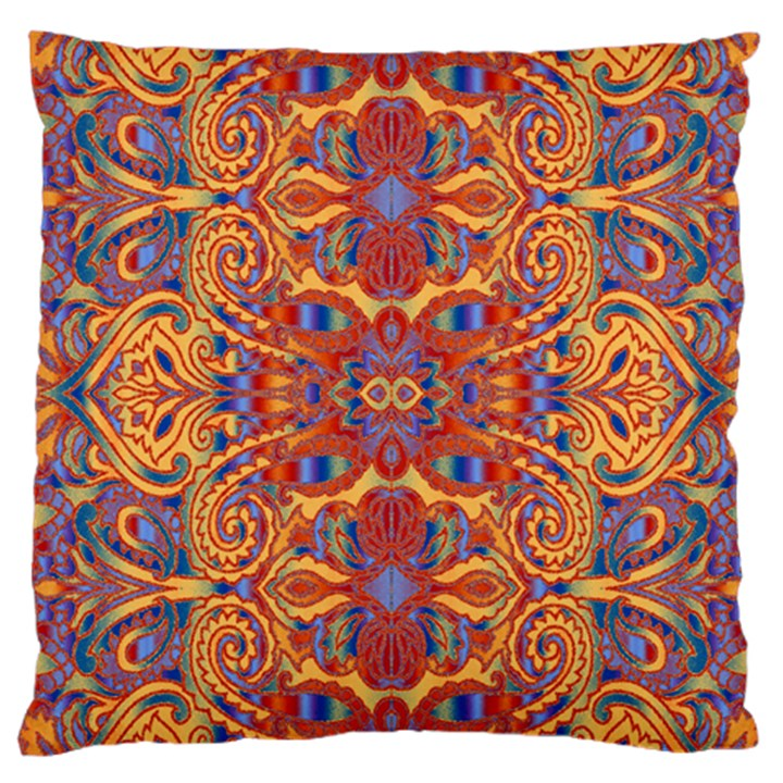 Oriental Watercolor Ornaments Kaleidoscope Mosaic Large Cushion Case (One Side)