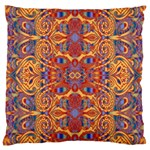 Oriental Watercolor Ornaments Kaleidoscope Mosaic Large Cushion Case (Two Sides) Back