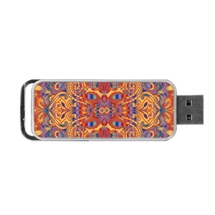 Oriental Watercolor Ornaments Kaleidoscope Mosaic Portable USB Flash (One Side)