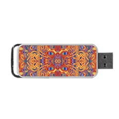 Oriental Watercolor Ornaments Kaleidoscope Mosaic Portable Usb Flash (two Sides)