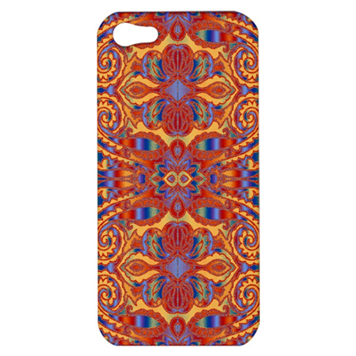 Oriental Watercolor Ornaments Kaleidoscope Mosaic Apple iPhone 5 Hardshell Case