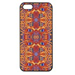 Oriental Watercolor Ornaments Kaleidoscope Mosaic Apple iPhone 5 Seamless Case (Black) Front