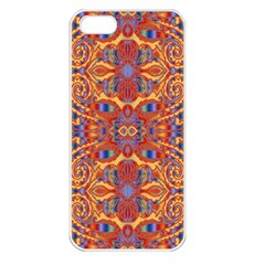 Oriental Watercolor Ornaments Kaleidoscope Mosaic Apple Iphone 5 Seamless Case (white)