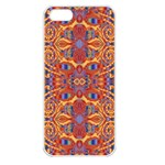 Oriental Watercolor Ornaments Kaleidoscope Mosaic Apple iPhone 5 Seamless Case (White) Front