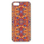 Oriental Watercolor Ornaments Kaleidoscope Mosaic Apple Seamless iPhone 5 Case (Clear) Front