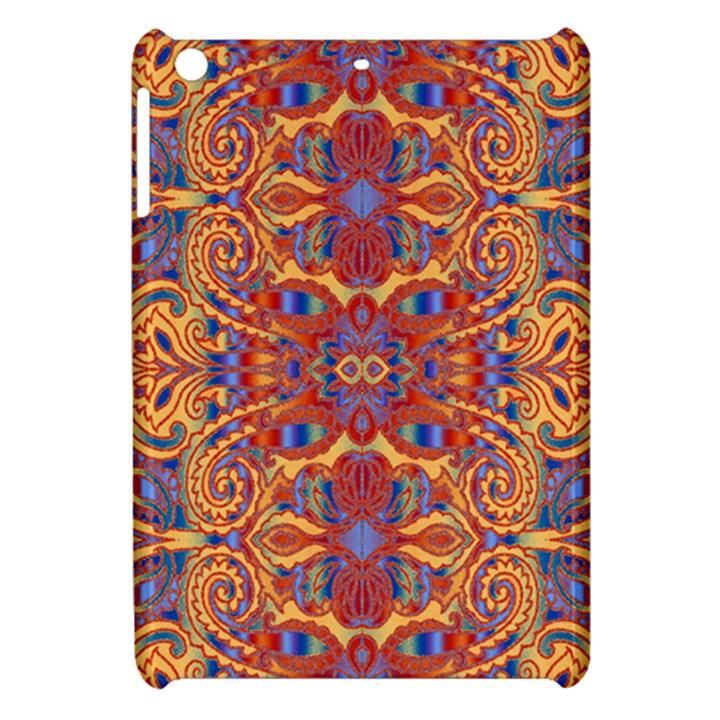 Oriental Watercolor Ornaments Kaleidoscope Mosaic Apple iPad Mini Hardshell Case