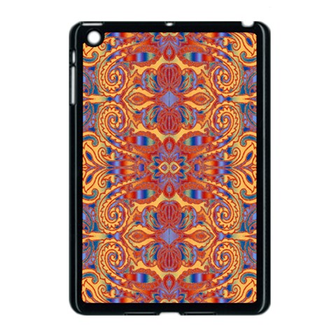 Oriental Watercolor Ornaments Kaleidoscope Mosaic Apple iPad Mini Case (Black)