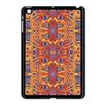 Oriental Watercolor Ornaments Kaleidoscope Mosaic Apple iPad Mini Case (Black) Front