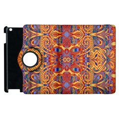 Oriental Watercolor Ornaments Kaleidoscope Mosaic Apple Ipad 3/4 Flip 360 Case