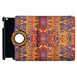 Oriental Watercolor Ornaments Kaleidoscope Mosaic Apple iPad 3/4 Flip 360 Case Front