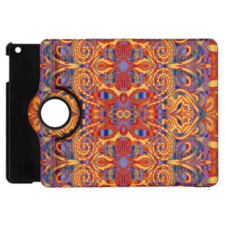 Oriental Watercolor Ornaments Kaleidoscope Mosaic Apple iPad Mini Flip 360 Case