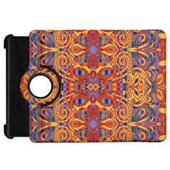 Oriental Watercolor Ornaments Kaleidoscope Mosaic Kindle Fire Hd Flip 360 Case