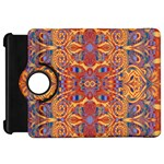 Oriental Watercolor Ornaments Kaleidoscope Mosaic Kindle Fire HD Flip 360 Case Front