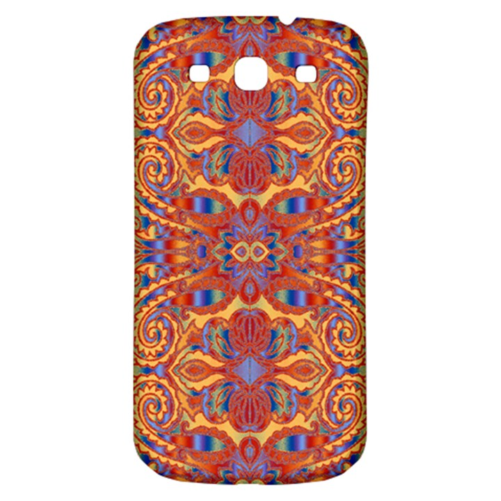 Oriental Watercolor Ornaments Kaleidoscope Mosaic Samsung Galaxy S3 S III Classic Hardshell Back Case