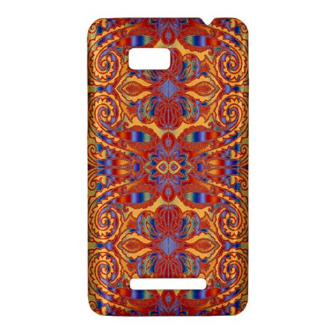 Oriental Watercolor Ornaments Kaleidoscope Mosaic HTC One SU T528W Hardshell Case