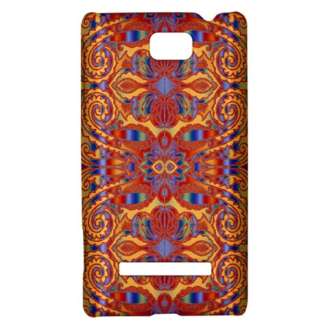 Oriental Watercolor Ornaments Kaleidoscope Mosaic HTC 8S Hardshell Case