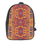 Oriental Watercolor Ornaments Kaleidoscope Mosaic School Bags (XL)  Front