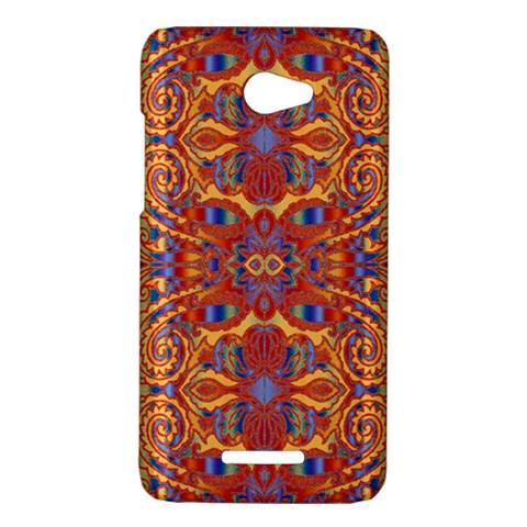 Oriental Watercolor Ornaments Kaleidoscope Mosaic HTC Butterfly X920E Hardshell Case