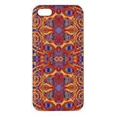 Oriental Watercolor Ornaments Kaleidoscope Mosaic Apple iPhone 5 Premium Hardshell Case