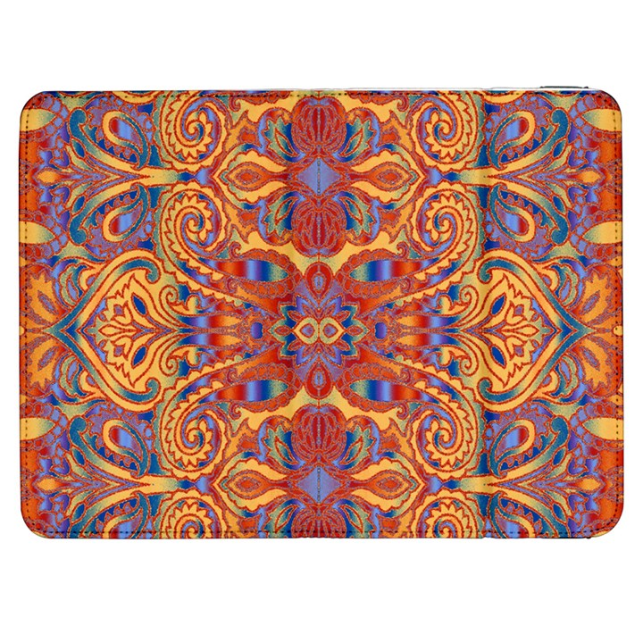 Oriental Watercolor Ornaments Kaleidoscope Mosaic Samsung Galaxy Tab 7  P1000 Flip Case