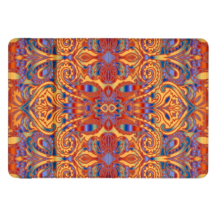 Oriental Watercolor Ornaments Kaleidoscope Mosaic Samsung Galaxy Tab 8.9  P7300 Flip Case