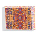 Oriental Watercolor Ornaments Kaleidoscope Mosaic 5 x 7  Acrylic Photo Blocks Front