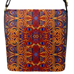 Oriental Watercolor Ornaments Kaleidoscope Mosaic Flap Messenger Bag (S)