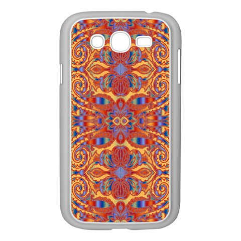 Oriental Watercolor Ornaments Kaleidoscope Mosaic Samsung Galaxy Grand DUOS I9082 Case (White)