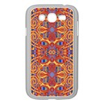 Oriental Watercolor Ornaments Kaleidoscope Mosaic Samsung Galaxy Grand DUOS I9082 Case (White) Front