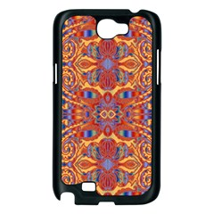 Oriental Watercolor Ornaments Kaleidoscope Mosaic Samsung Galaxy Note 2 Case (Black)