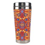 Oriental Watercolor Ornaments Kaleidoscope Mosaic Stainless Steel Travel Tumblers Center