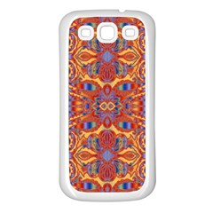 Oriental Watercolor Ornaments Kaleidoscope Mosaic Samsung Galaxy S3 Back Case (White)