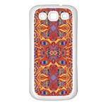 Oriental Watercolor Ornaments Kaleidoscope Mosaic Samsung Galaxy S3 Back Case (White) Front