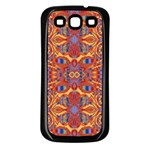 Oriental Watercolor Ornaments Kaleidoscope Mosaic Samsung Galaxy S3 Back Case (Black) Front