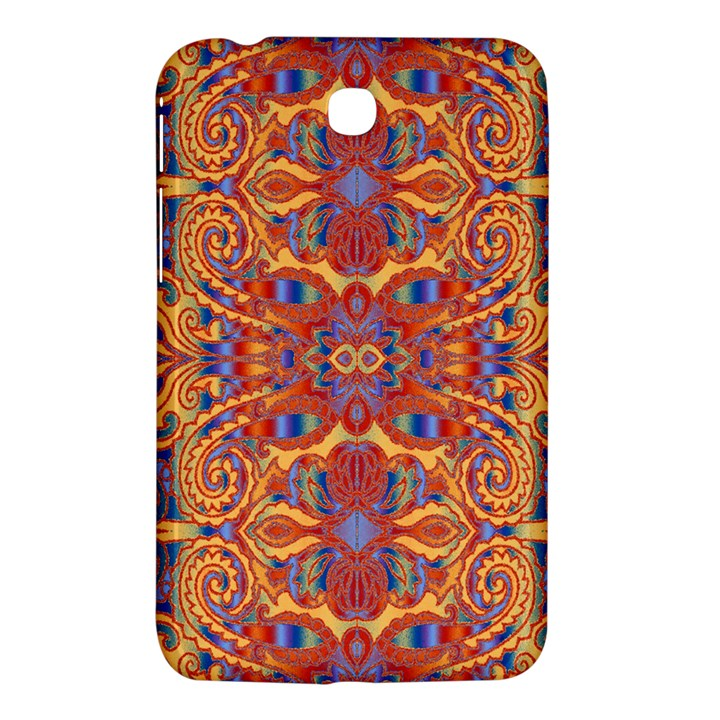 Oriental Watercolor Ornaments Kaleidoscope Mosaic Samsung Galaxy Tab 3 (7 ) P3200 Hardshell Case
