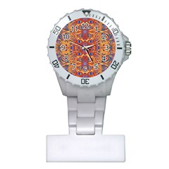 Oriental Watercolor Ornaments Kaleidoscope Mosaic Plastic Nurses Watch