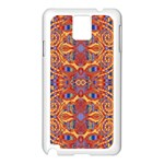 Oriental Watercolor Ornaments Kaleidoscope Mosaic Samsung Galaxy Note 3 N9005 Case (White) Front