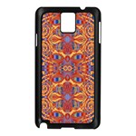 Oriental Watercolor Ornaments Kaleidoscope Mosaic Samsung Galaxy Note 3 N9005 Case (Black) Front