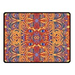 Oriental Watercolor Ornaments Kaleidoscope Mosaic Double Sided Fleece Blanket (Small)  50 x40 Blanket Back